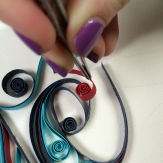 quilling, lettering, type, kelly spencer, hand lettering, sign painting, new zealand